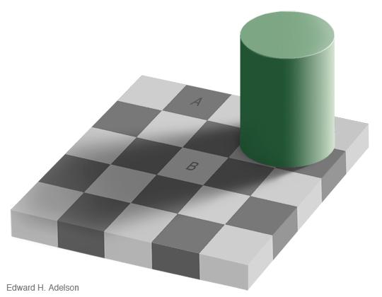 Tam boyut i�in resme t�klay�n.  Ad�:  checkershadow_illusion4med.jpg G�sterim: 909 Boyutu:  76.5 KB ID: 14014