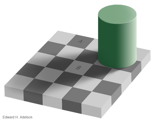 Ger�ek boyutunda g�r�nt�lemek i�in resme t�klay�n.  Ad�:  checkershadow_illusion4med.jpg G�sterim: 909 Boyutu:  76.5 KB