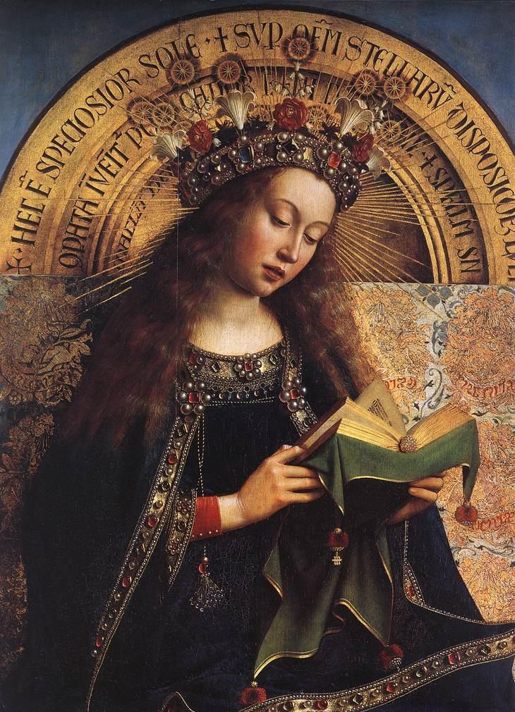 Tam boyut i�in resme t�klay�n.  Ad�:  Jan_van_Eyck_-_The_Ghent_Altarpiece_-_Virgin_Mary_(detail)_-_WGA07629.jpg G�sterim: 2 Boyutu:  175.6 KB ID: 32562