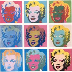 Ger�ek boyutunda g�r�nt�lemek i�in resme t�klay�n.  Ad�:  Warhol-Marilyns.jpg G�sterim: 144 Boyutu:  27.6 KB