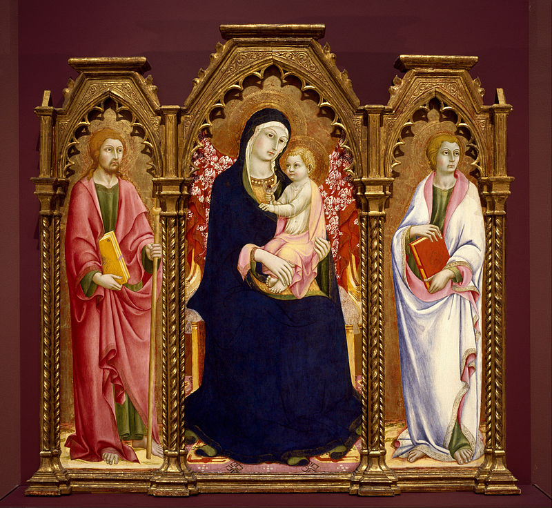 Ad:  Sano_di_Pietro_-_Madonna_and_Child_with_Saints_James_Major_and_John_the_Evangelist,_altarpiece_-.jpg