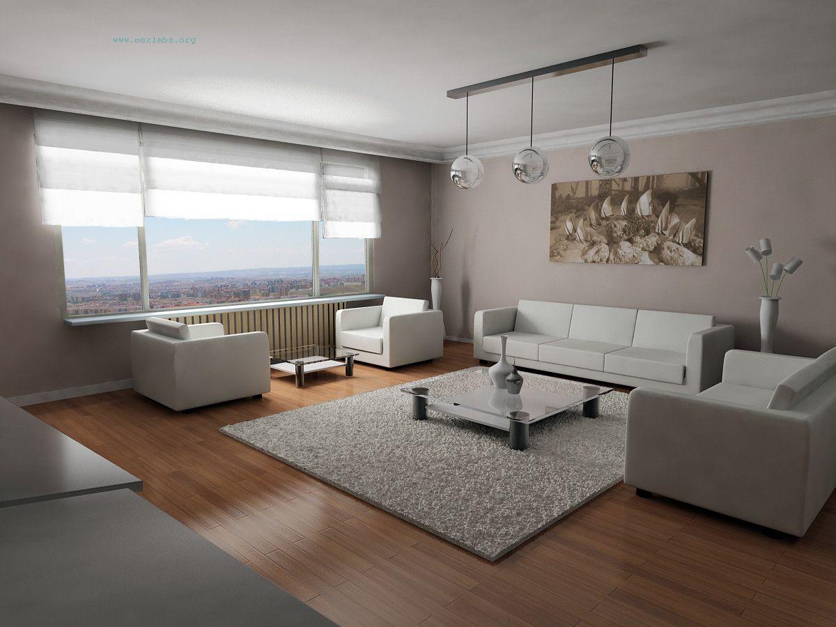 Pastel tonlarda oturma odası dekorasyonu