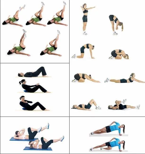 Упражнения для тонкой талии в домашних условиях для девушек
